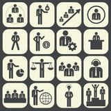 Human resources and management icon set. Vector illustration royalty free illustration