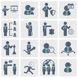 Human resources and management Icon set. Flat vector illustration. Human resources and management Icon set for websites and mobile applications. Flat vector Royalty Free Stock Image