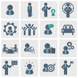 Human resources and management Icon set. Flat vector illustration. Human resources and management Icon set for websites and mobile applications. Flat vector Stock Images