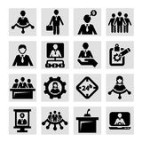 Human resources and management icons. Business, Management and Success Vector Icons Set Stock Image