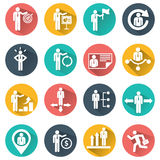 Human resources and management icons set Stock Image
