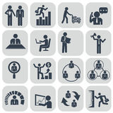 Human resources and management icons set Royalty Free Stock Photography