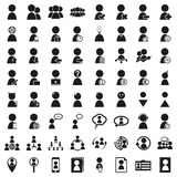 Human resources and management icons set. Human resources and management icons set Created For Mobile, Web, Decor, Print Products, Applications. Vector Royalty Free Illustration