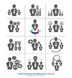 Human resources and management icons set Stock Photography