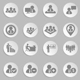 Human resources and management icons set. Royalty Free Stock Images