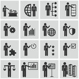 Human resources and management icons set. Royalty Free Stock Image