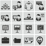 Human resources and management icons set. Stock Photo