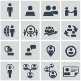 Human resources and management icons set. Royalty Free Stock Photo