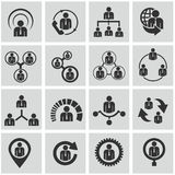 Human resources and management icons set. Stock Photography