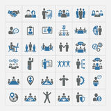 Human resources and management icons set Royalty Free Stock Photos