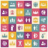 Human resources and management icons set Stock Photo