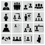 Human resources and management icons Royalty Free Stock Images