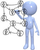 Human resources manager diagrams people network Stock Image