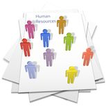 Human resources people business letter page. Human resources people hires or temps on a business letter page Royalty Free Stock Image