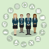 Human Resources with professional occupation Stock Photos