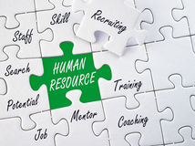 Human resources puzzle Royalty Free Stock Photography