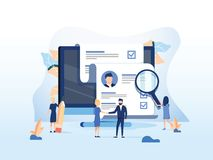 Human Resources, Recruitment Concept for web page, banner presentation, social media, documents cards and posters. Vector illustration HR, hiring, application vector illustration