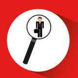 Human resources searching leader executive graphic. Human resources searching leader executive elegant graphic  illustration eps 10 Royalty Free Stock Photography