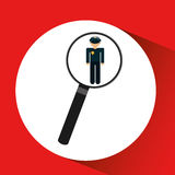 human resources searching police man graphic Stock Images