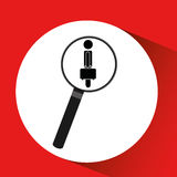 human resources searching silhouette man business icon graphic Stock Photography