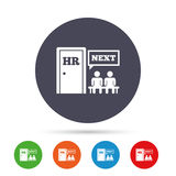 Human resources sign icon. HR symbol. Royalty Free Stock Images