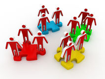 Human resources or social media people Stock Image