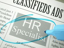 Human resources: Specialist Royalty Free Stock Images