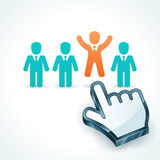 Human Resources-Stand Out From The Group Stock Photos