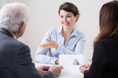 Human resources team during job interview Royalty Free Stock Image