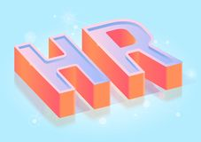 Human Resources Title Isometric Vector Template royalty free illustration