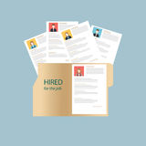 Human resources, vector illustration. stock images