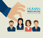 Human resources, vector illustration. Royalty Free Stock Photos