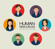 Human resources, vector illustration. Stock Image