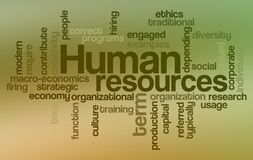 Human resources - Word Cloud. Word Cloud Illustration of Human Resources Stock Photography