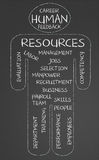 Human resources word cloud Stock Illustration