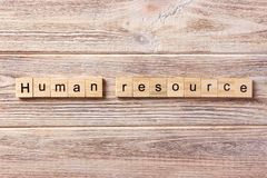 Human Resources word written on wood block. Human Resources text on table, concept Stock Photography