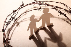 Human right. Crime, imprisonment, refugee and humanity concept Royalty Free Stock Images
