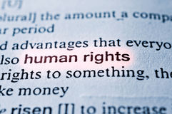 Human right. S concept in word tag . Selective focus in the middle of word Stock Photos