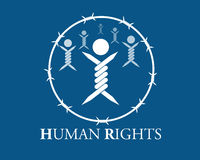 Human rights. Vector symbol of human rights Stock Photo