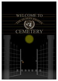 Human rights cemetery Stock Image