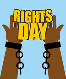 Human Rights Day. Poster for International Festival. Arm slave w Stock Images