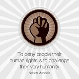 Human Rights Day, poster, quotes,  template Royalty Free Stock Images