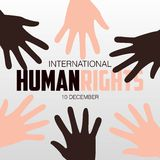 Human Rights Day, poster, quotes,  template Stock Photography