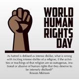 Human Rights Day, poster, quotes,  template Royalty Free Stock Photography