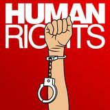 Human Rights Day Vector Template Royalty Free Stock Photos