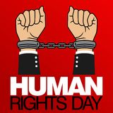 Human Rights Day Vector Template Stock Photography