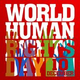 Human Rights Day Vector Template Royalty Free Stock Photo