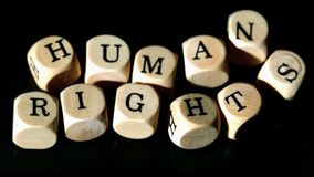 Human rights dice coming together Royalty Free Stock Photos