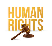 Human rights law hammer illustration design Stock Images