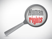 Human rights magnify review illustration Royalty Free Stock Image
